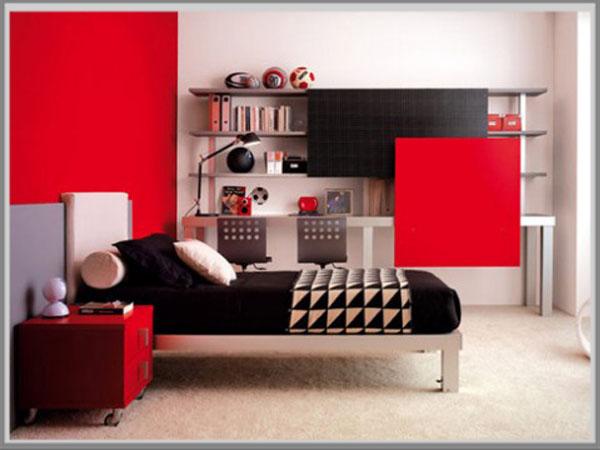 kamar warna merah